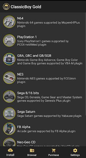 ClassicBoy Gold (64-bit) Game Emulator apktreat screenshots 1