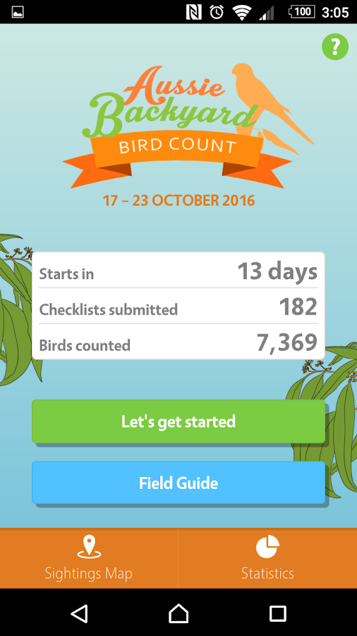 Aussie Bird Count- screenshot