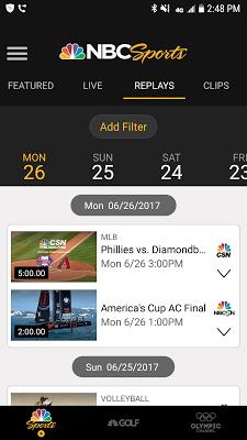 NBC Sports - screenshot