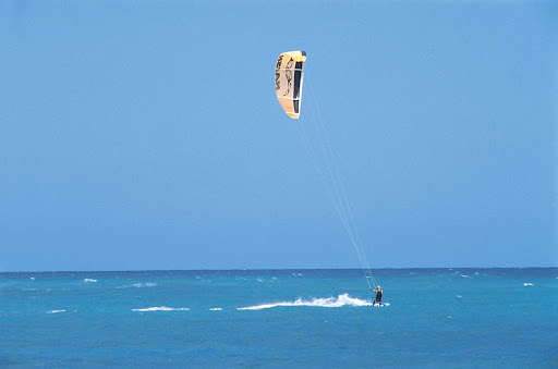 Sailboarding in the Dominican Republic.