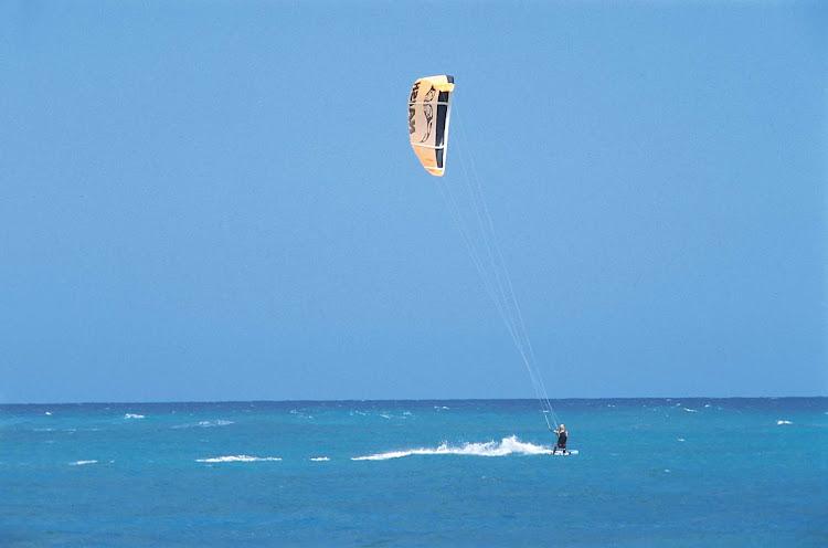Sailboarding in the Dominican Republic.