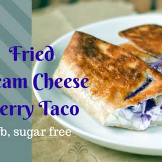 Fried Cream Cheese and Berry Taco.