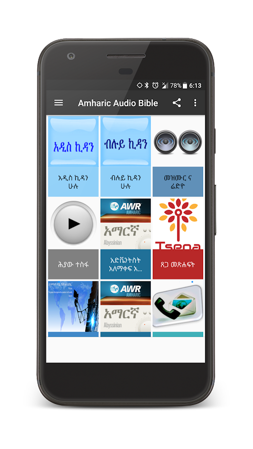 Amharic Audio Bible- screenshot