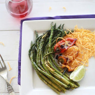 Asparagus and Sweet Pepper Roasted