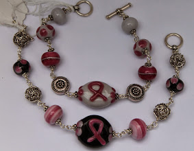Photo: Breast cancer bracelets $50 each