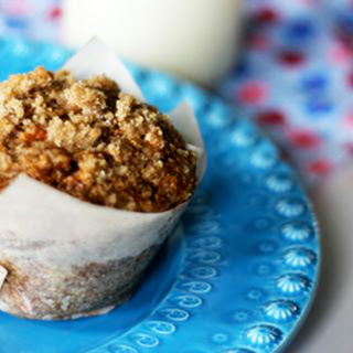 Apple, Carrot & Flax Muffins with Streusel Topping