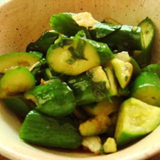 Cucumber Pickle with Ohba Leaves