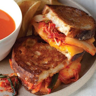 Grilled MILKimcheeze Sandwich from 'The Kimchi Cookbook'.
