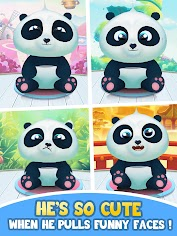(APK) تحميل لالروبوت / PC Pu - Cute giant panda bear, baby pet care game تطبيقات screenshot