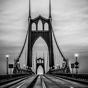 St John's Bridge by Ivan Johnson - Black & White Buildings & Architecture (  )