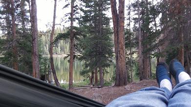 Photo: Relaxing by Bear Lake