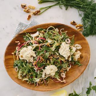 French Lentil and Arugula Salad with Herbed Cashew Cheese