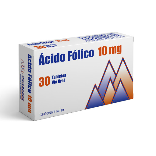Ácido Folico Plusandex 10Mg X 30 Comprimidos PlusAndex