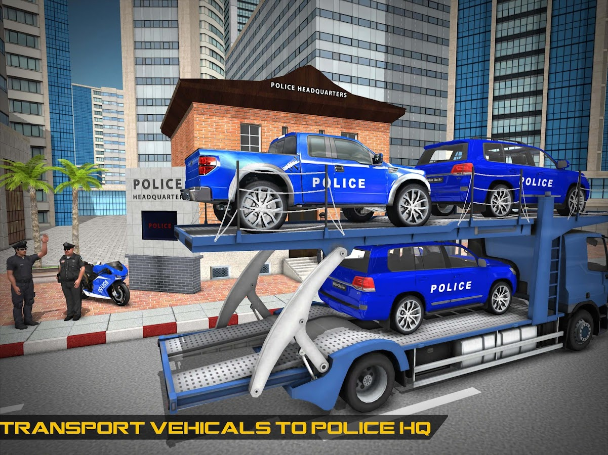 Cruiser Police Transport Game- screenshot
