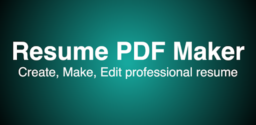 Resume PDF Maker / CV Builder - Apps on Google Play