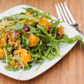 Vegan Acorn Squash Quinoa Salad with Cranberries and Pistachios {Gluten-Free}.