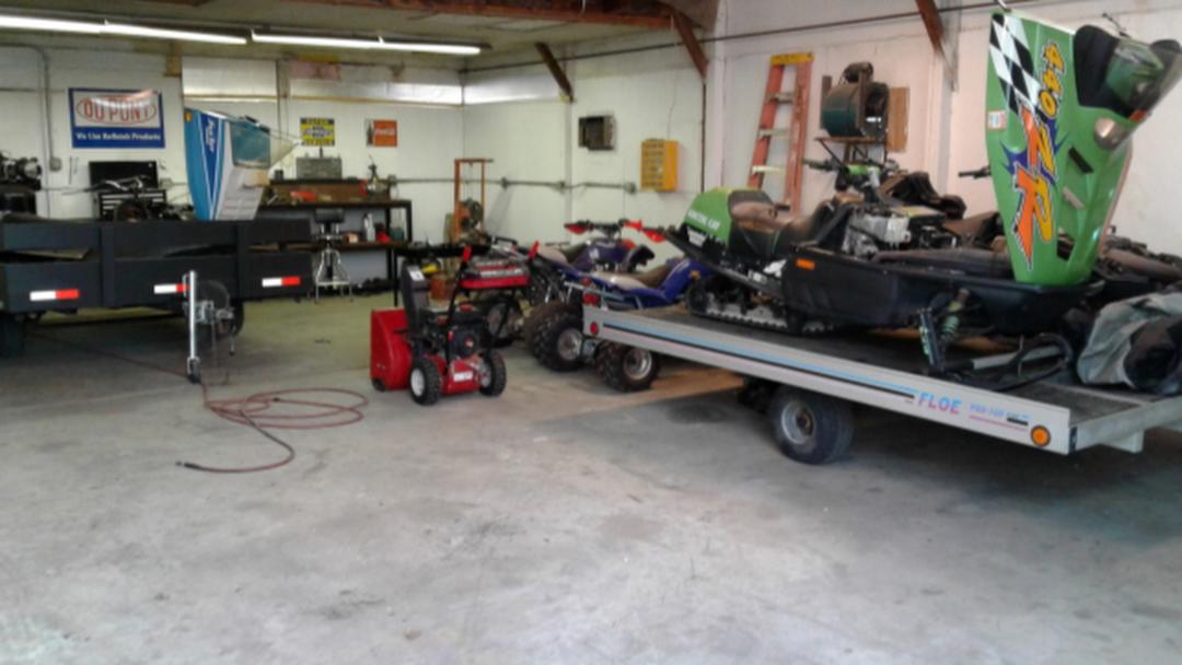 snowmobile repair shops near me