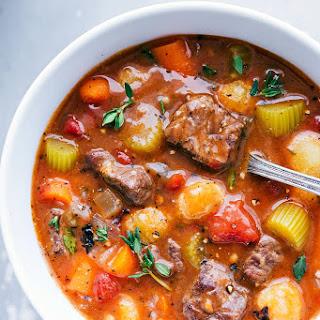 Crockpot Beef and Gnocchi Stew.