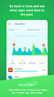 GlassWire: monitor de uso de datos Screenshot