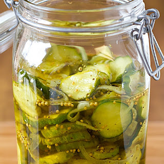 Refrigerator Bread and Butter Pickles.