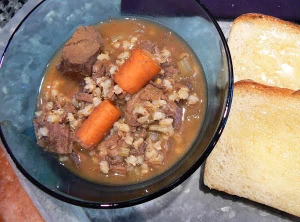 Mo's Beef Barley Soup Recipe