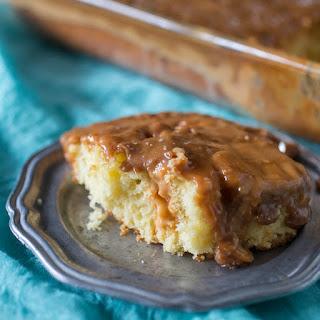 Salted Caramel Butterscotch Poke Cake.