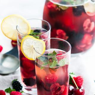 Mint Berry Cherry Summer Sangria