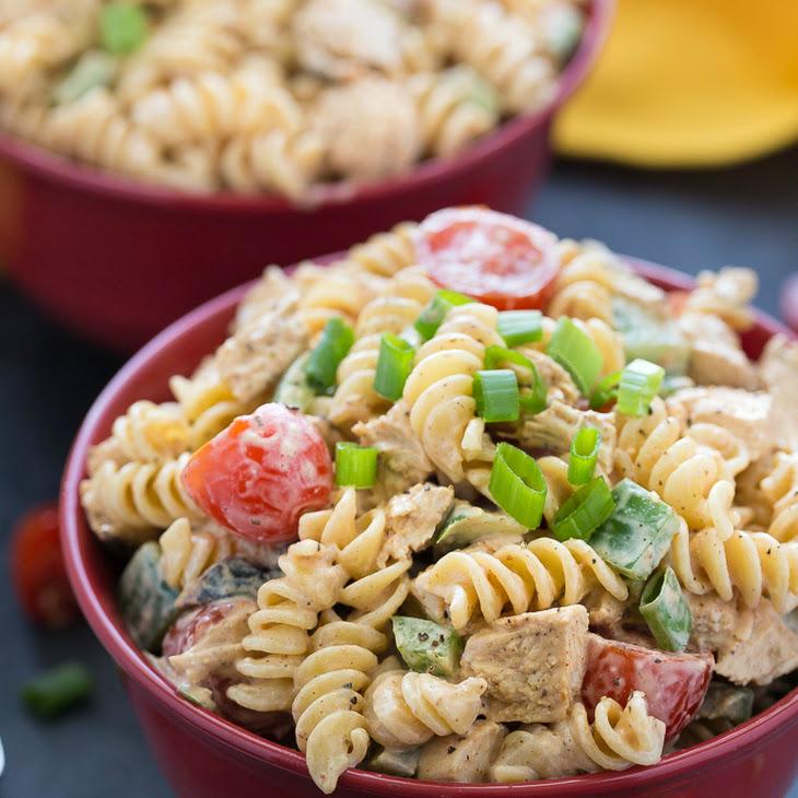 Grilled Butter Chicken Pasta Salad Recipe