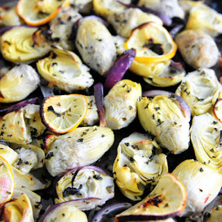 Roasted Artichokes with Lemon & Herbs
