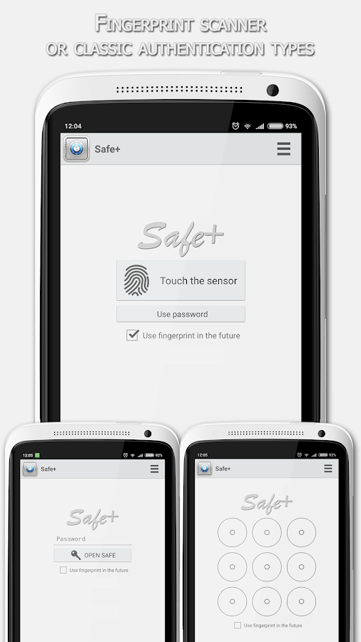 Safe+- screenshot