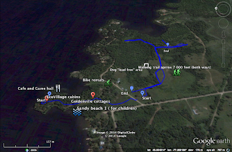 Photo: Goldenville Walking trail GPS tracking. NW view.