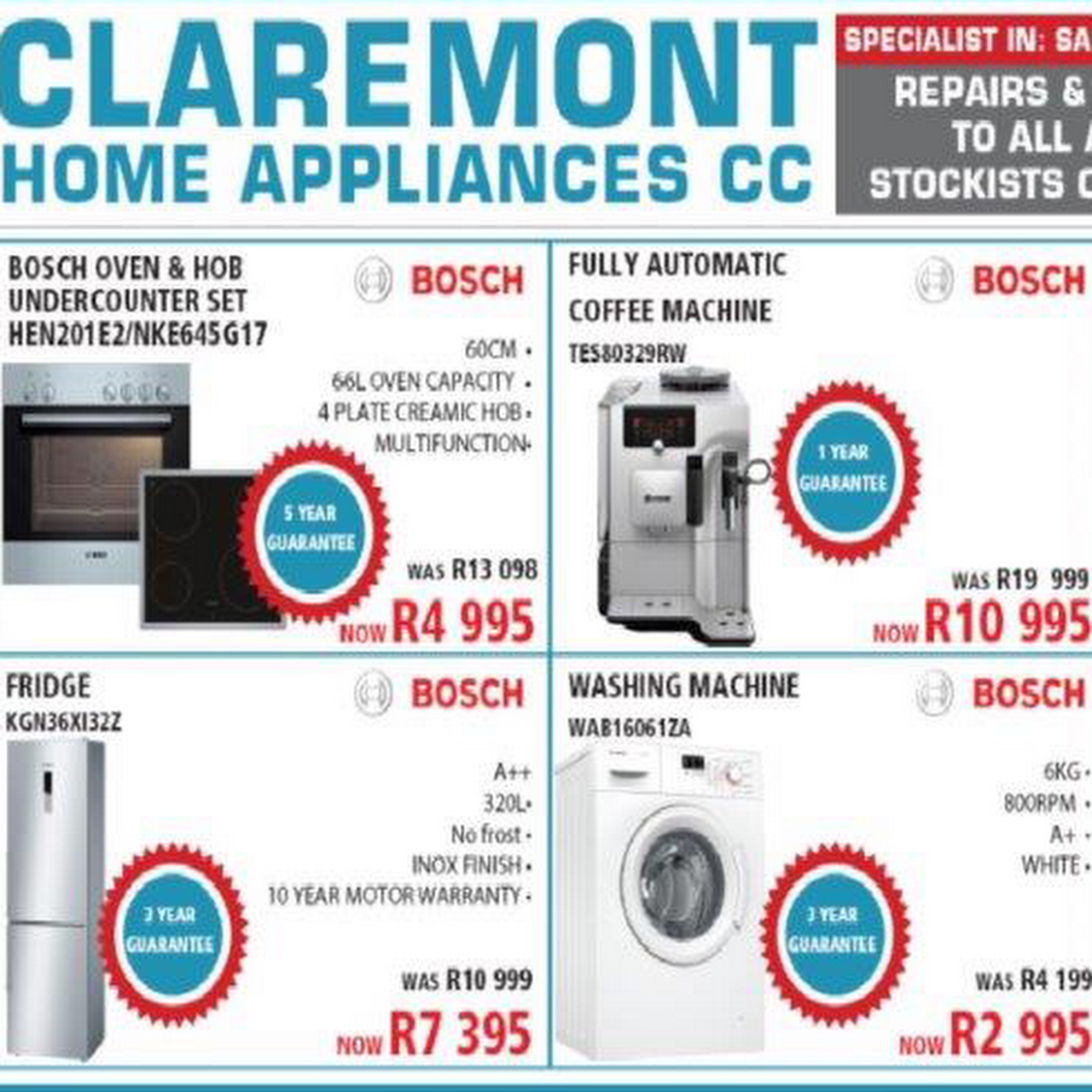 Claremont Home Appliance Doctor Appliance Store And