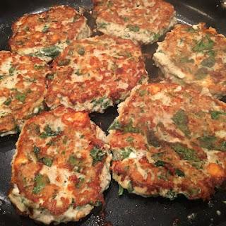 Chicken Feta Spinach Patties.