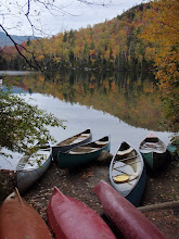 Photo: Canoes at Heart Lake. Photo By Tommy Bell