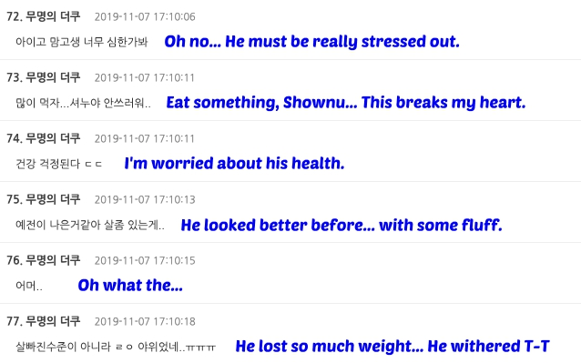 shownu comments