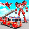 Firefighter Robot Transforming Truck Robot Games icon