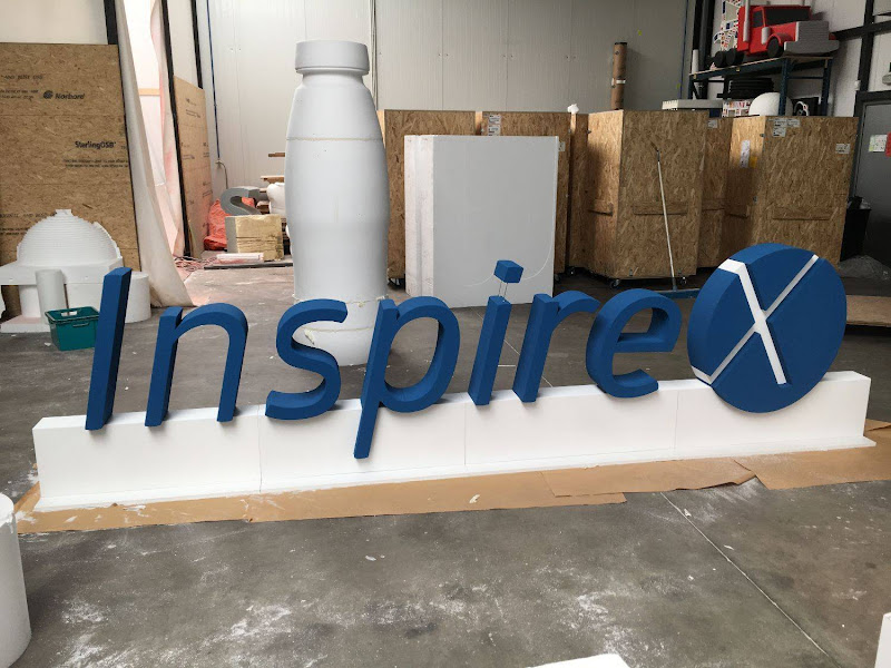 3D letters & logo's uit EPS en XPS - grote 3D letters Inspire X