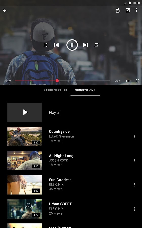 Screenshots of Free music for YouTube: Stream for Android