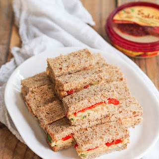 Hummus Chickpea Snack Sandwiches.