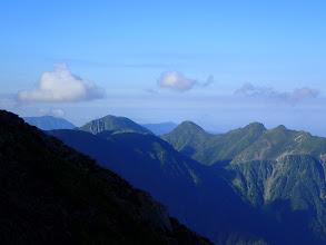 兎岳が見える