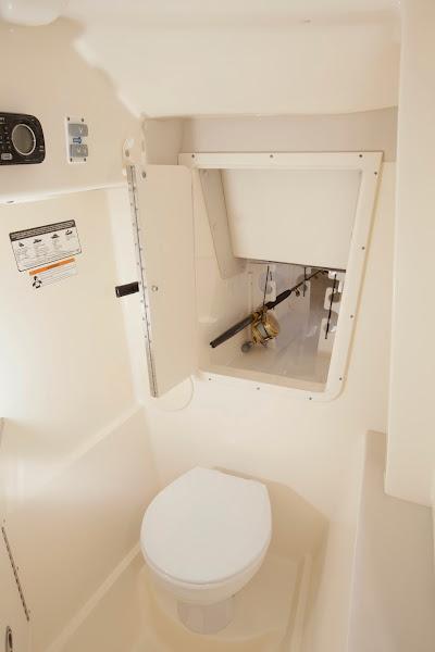 Photo: Large head area with rod storage
