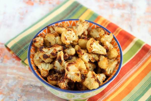 A Bowl Of Spicy Roasted Cauliflower.