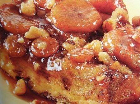 Upside Down Banana Walnut French Toast Recipe