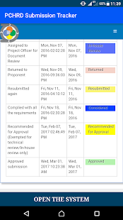 PCHRD Proposal Tracker- screenshot thumbnail