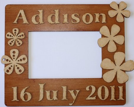 laser cut picture frame