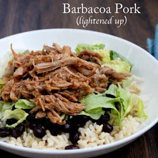 Slow Cooker Sweet Barbacoa Pork {lightened up}.
