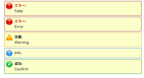 Visualforceのエラー表示