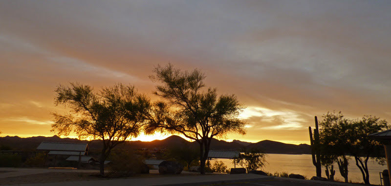 Sunset at Lake Pleasant