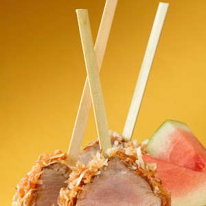 Coconut-Crusted Pork Tenderloin Lollipops