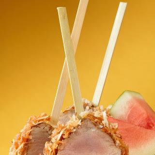 Coconut-Crusted Pork Tenderloin Lollipops.